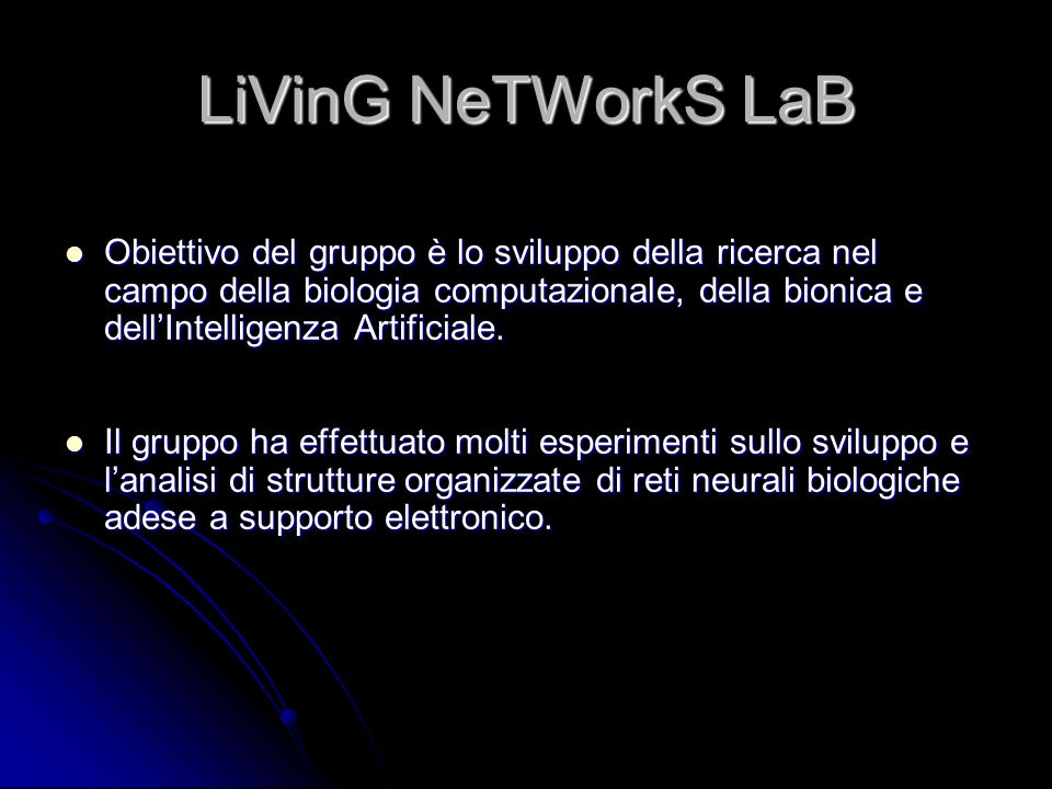 LiVinG NeTWorkS LaB