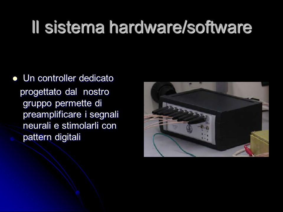 Il sistema hardware/software