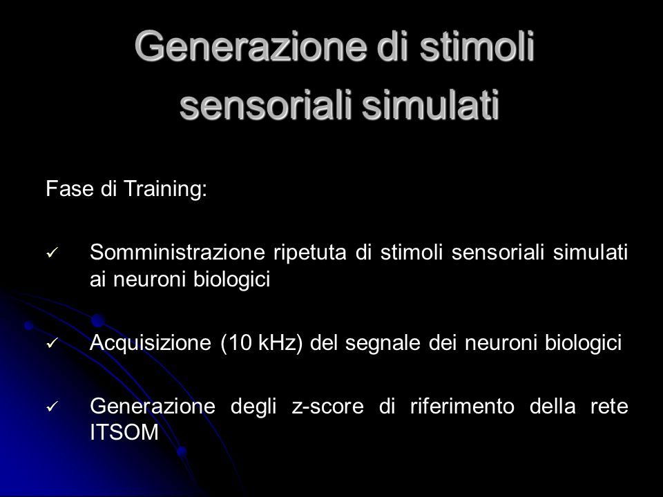 Generazione di stimoli