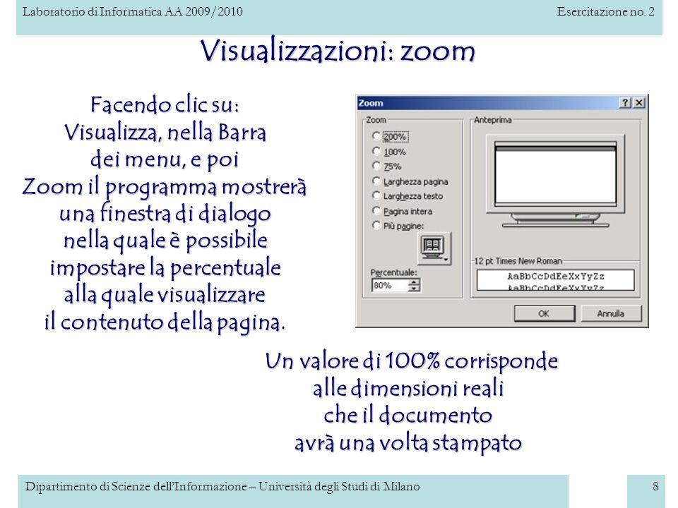 Visualizzazioni: zoom