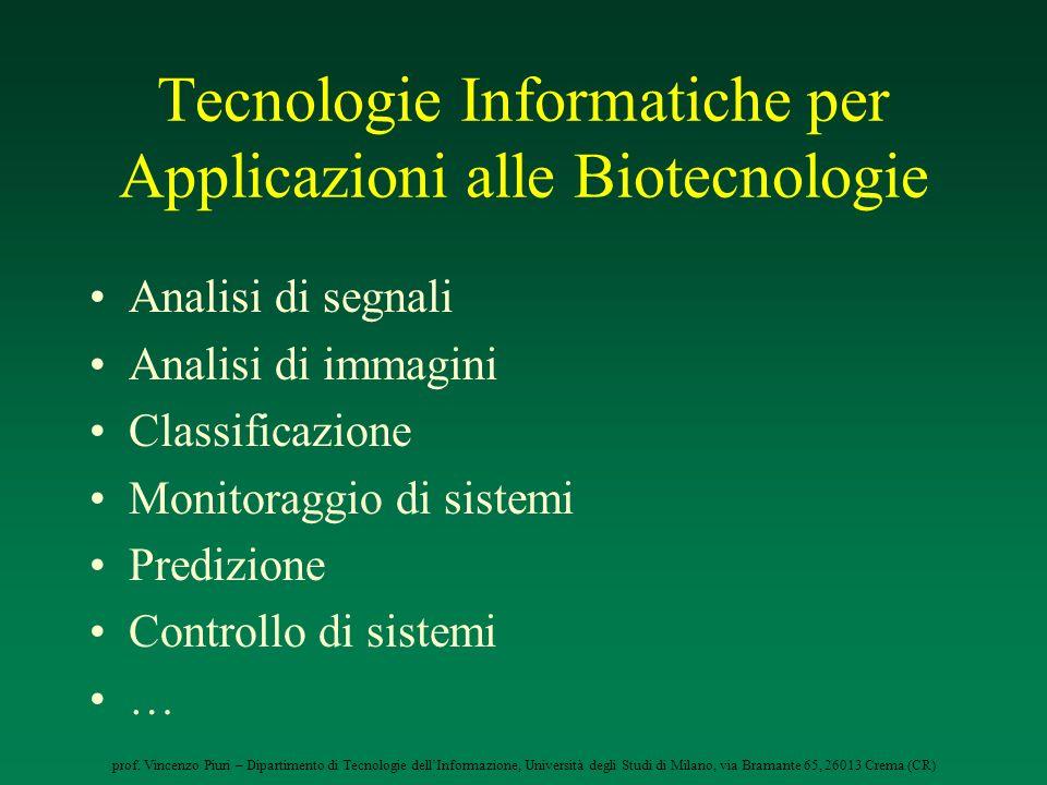 Tecnologie Informatiche per Applicazioni alle Biotecnologie