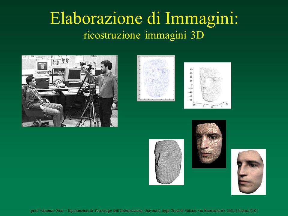 Elaborazione di Immagini: ricostruzione immagini 3D