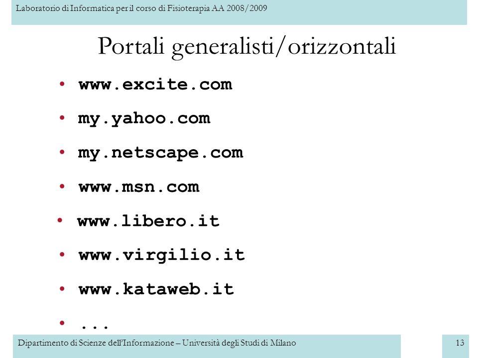 Portali generalisti/orizzontali