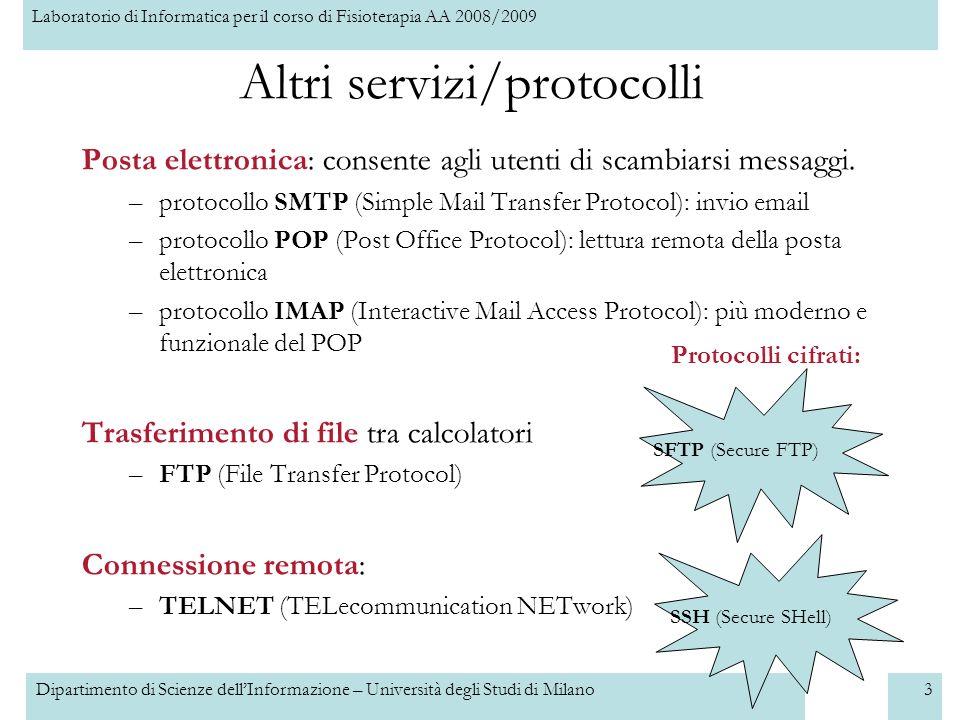 Altri servizi/protocolli