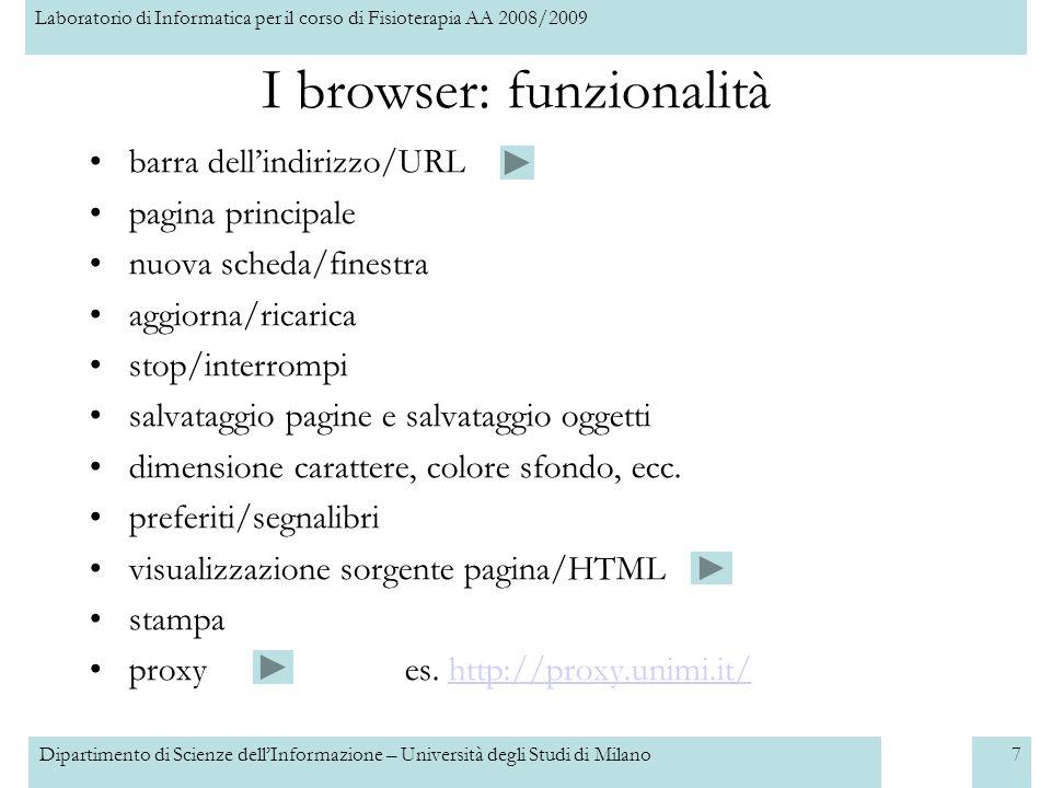 I browser: funzionalità