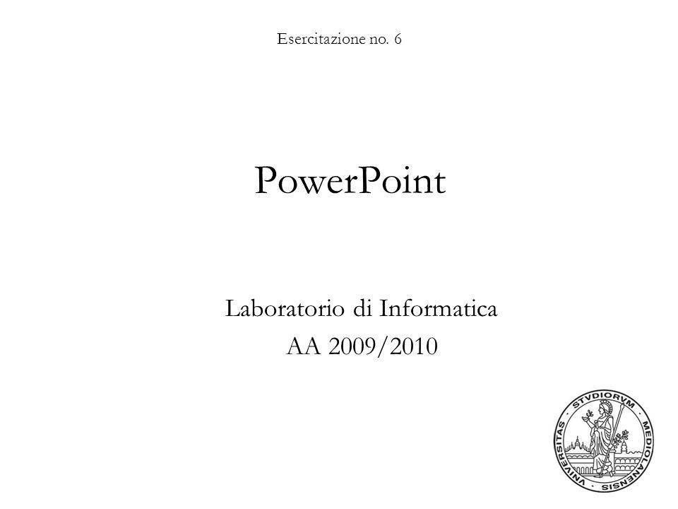 Laboratorio di Informatica AA 2009/2010
