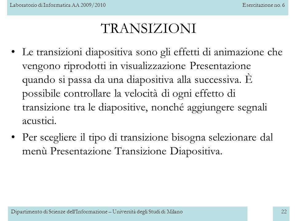 TRANSIZIONI