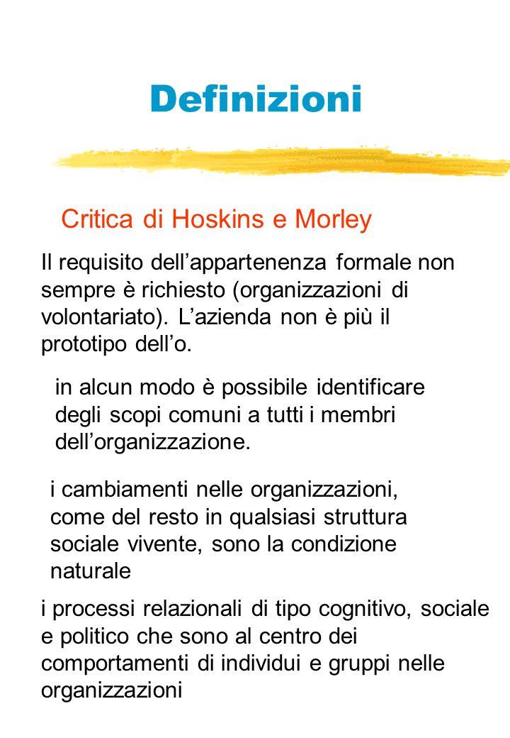 Definizioni Critica di Hoskins e Morley