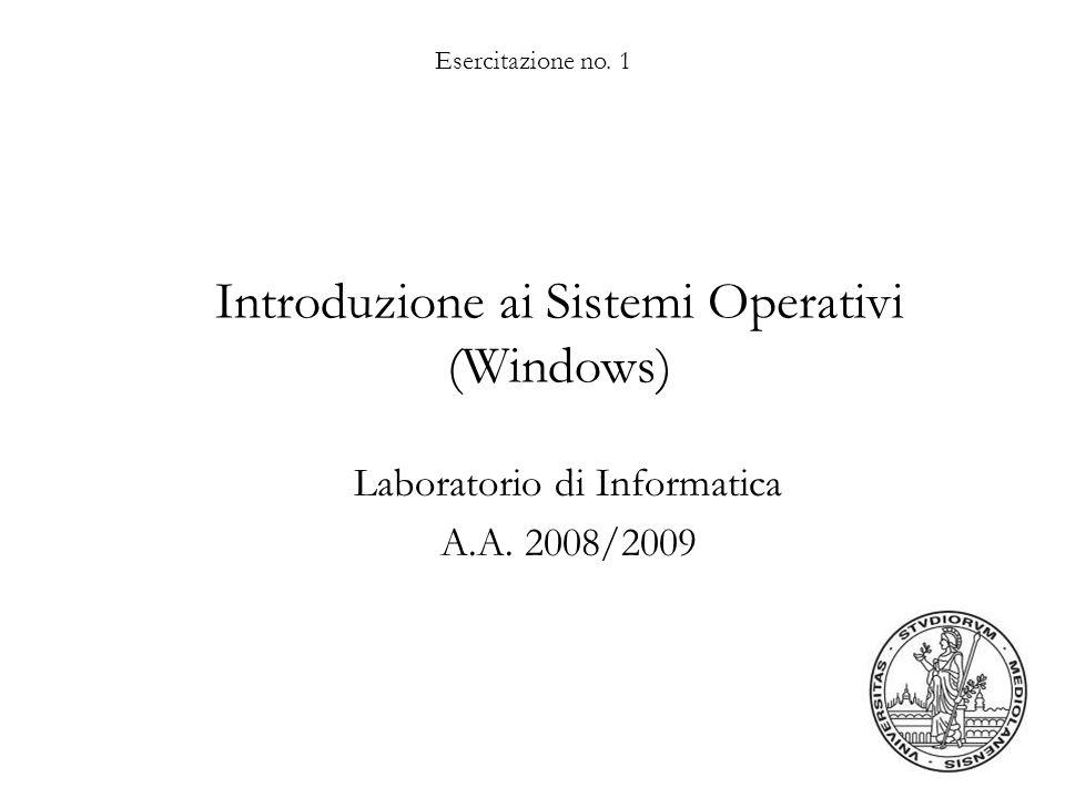 Introduzione ai Sistemi Operativi (Windows)