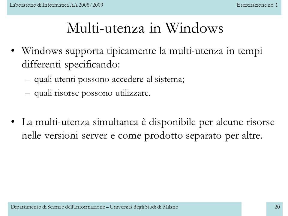 Multi-utenza in Windows