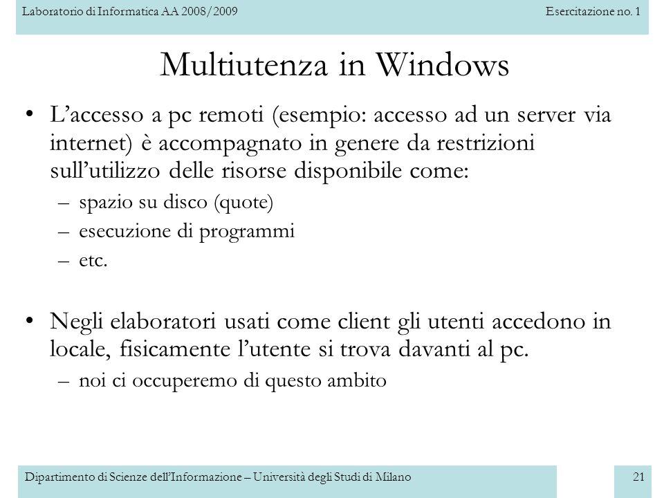 Multiutenza in Windows