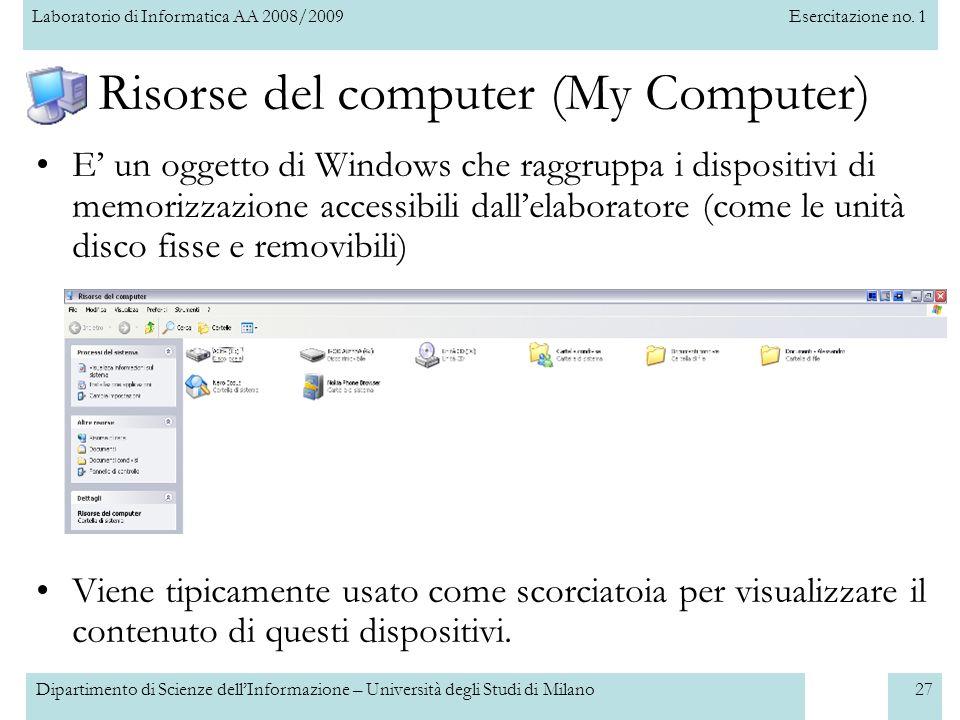 Risorse del computer (My Computer)