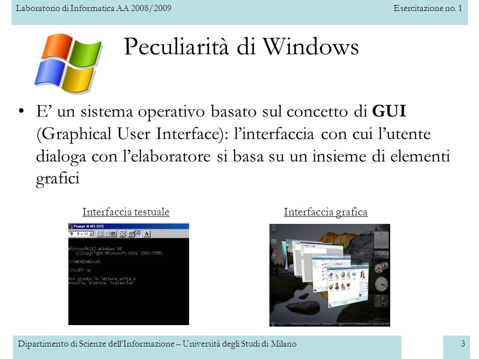 Peculiarità di Windows