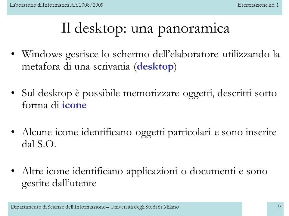 Il desktop: una panoramica