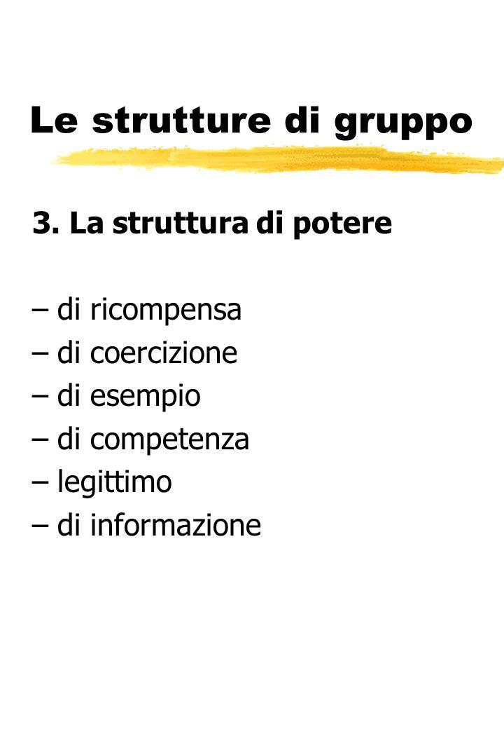 Le strutture di gruppo 3. La struttura di potere di ricompensa