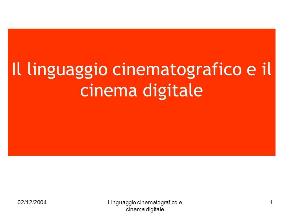 Il linguaggio cinematografico e il cinema digitale