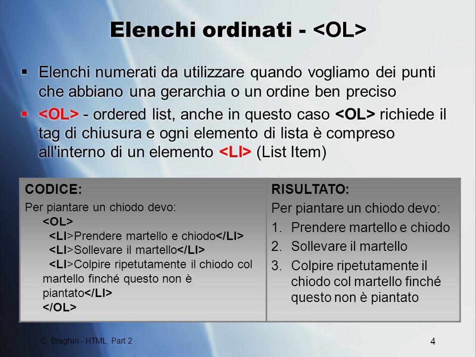 Elenchi ordinati - <OL>