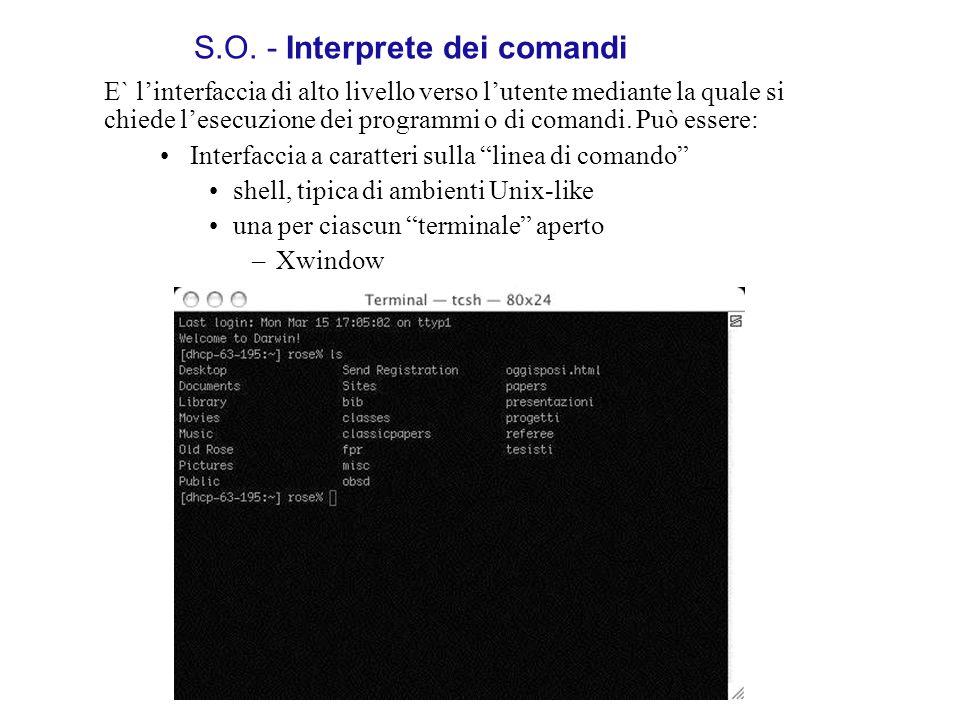 S.O. - Interprete dei comandi