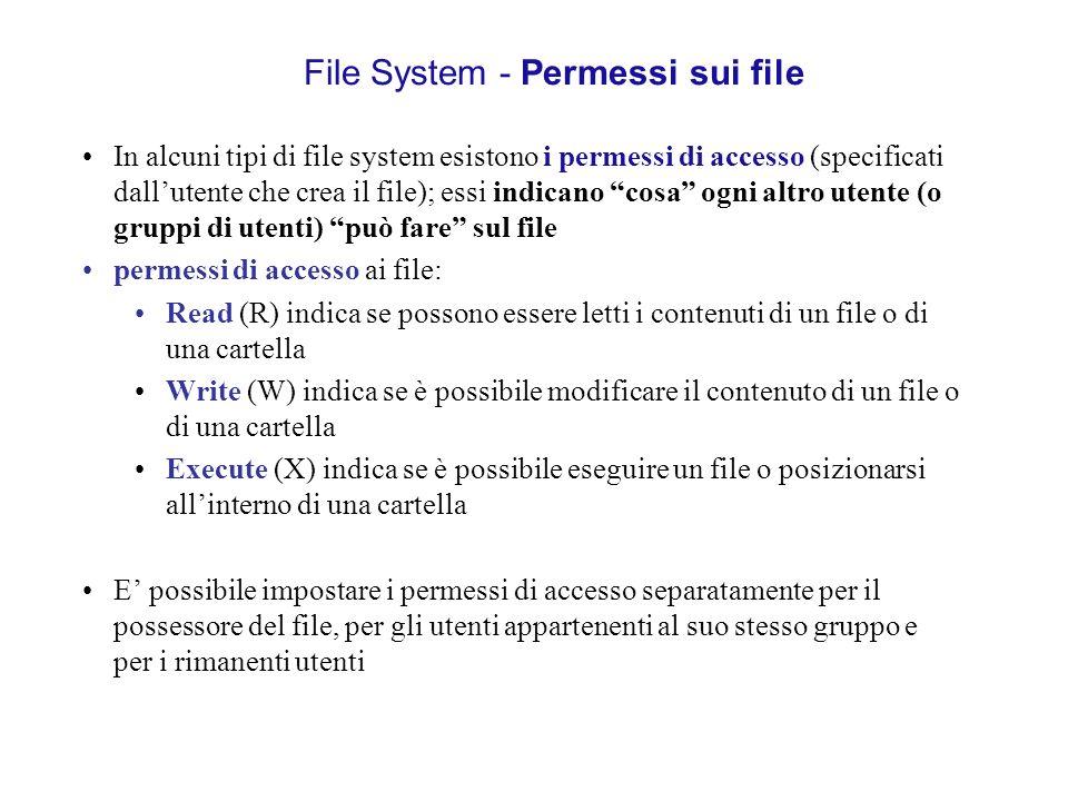 File System - Permessi sui file