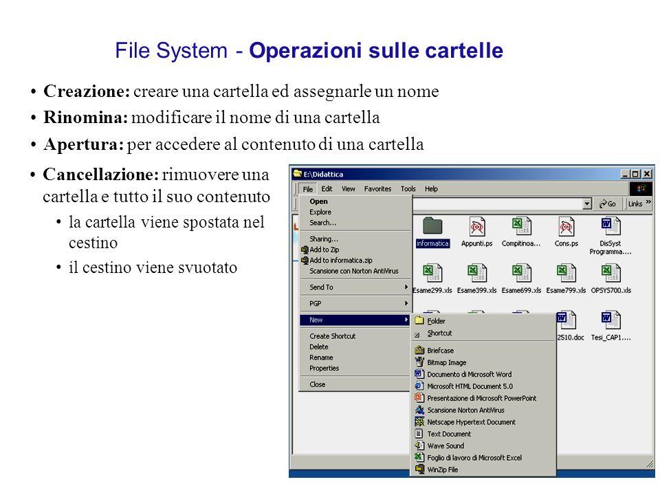 File System - Operazioni sulle cartelle