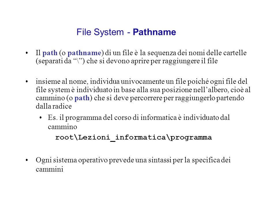 File System - Pathname