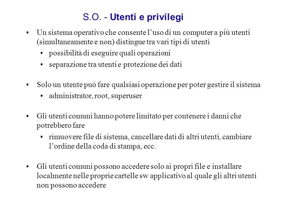 S.O. - Utenti e privilegi
