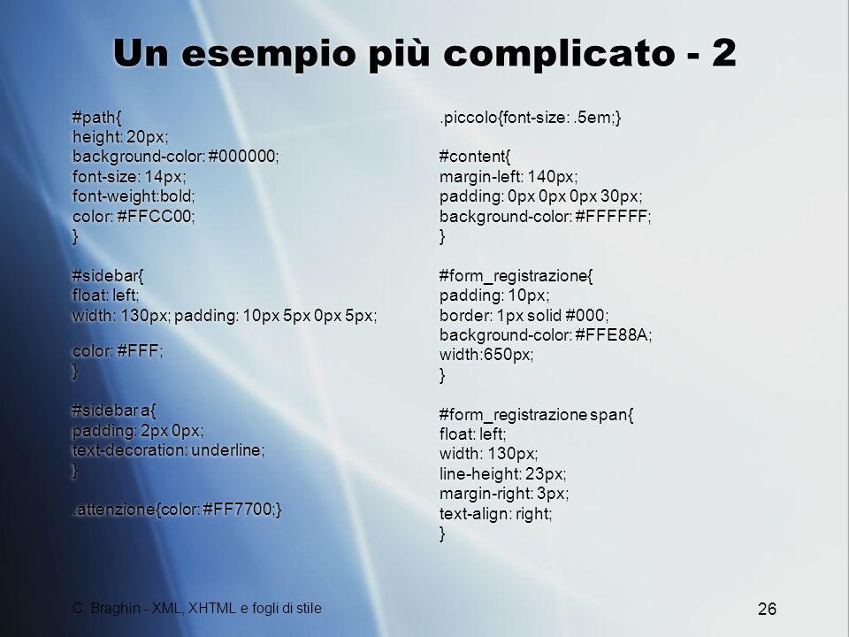 Un esempio più complicato - 2