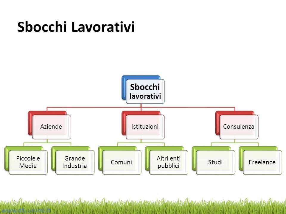 Sbocchi Lavorativi Sbocchi lavorativi www.dti.unimi.it Aziende