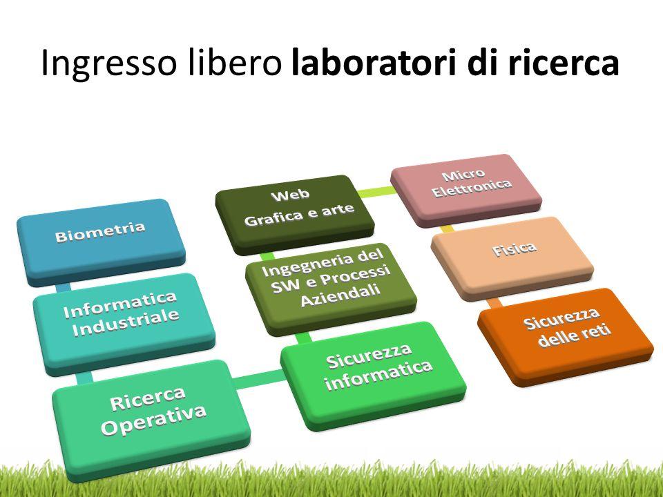 Ingresso libero laboratori di ricerca
