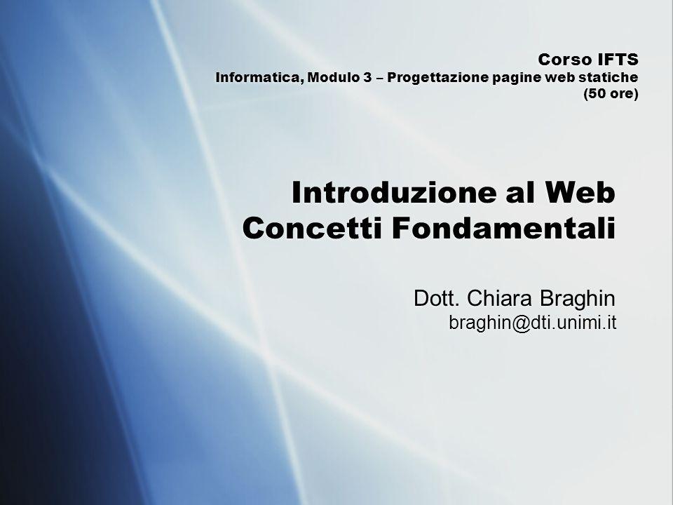 Introduzione al Web Concetti Fondamentali
