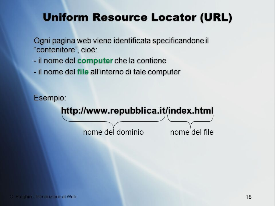 Uniform Resource Locator (URL)