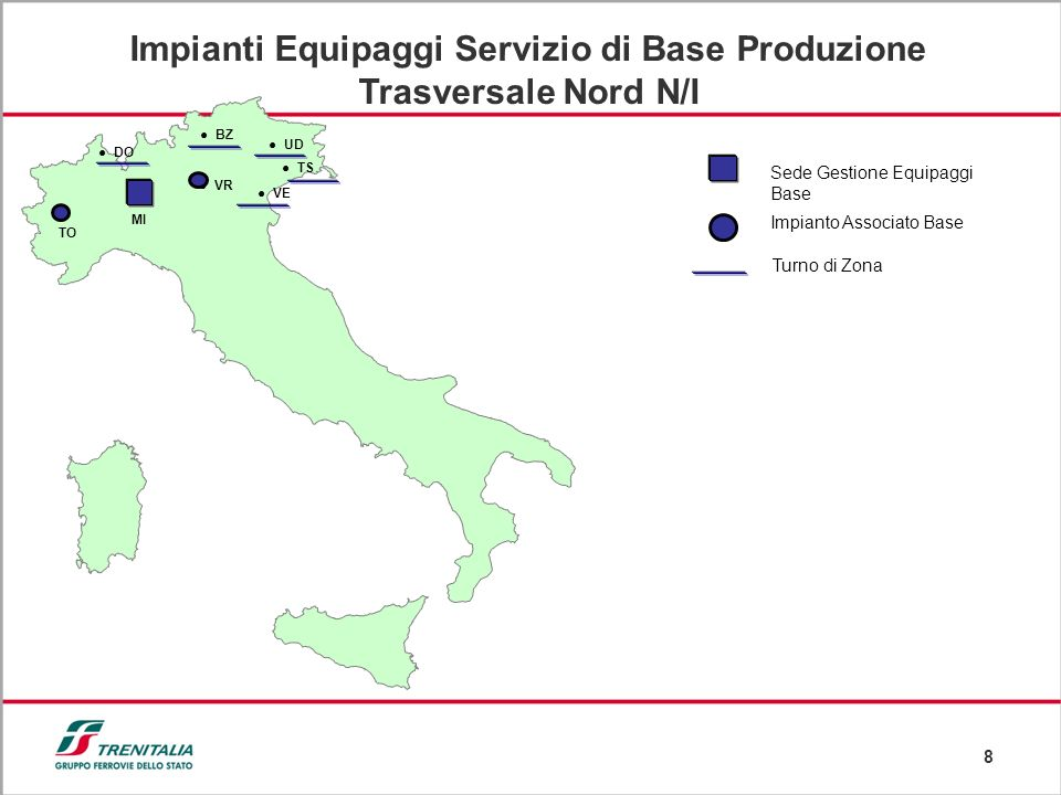 Impianti Equipaggi Servizio di Base Produzione Trasversale Nord N/I