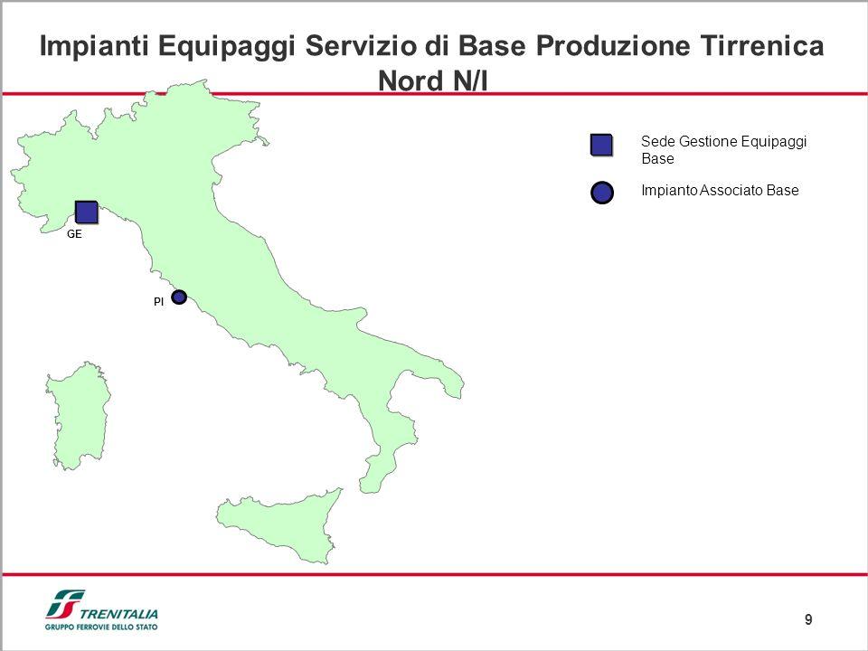 Impianti Equipaggi Servizio di Base Produzione Tirrenica Nord N/I