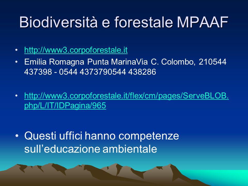 Biodiversità e forestale MPAAF