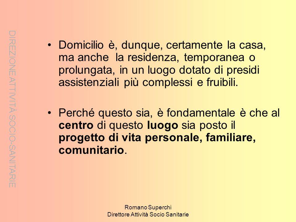 Romano Superchi Direttore Attività Socio Sanitarie