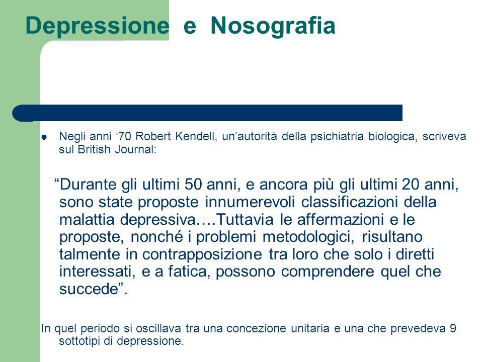 Depressione e Nosografia