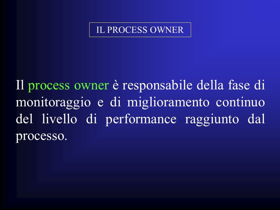 IL PROCESS OWNER