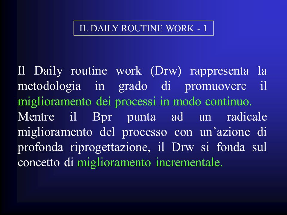 IL DAILY ROUTINE WORK - 1