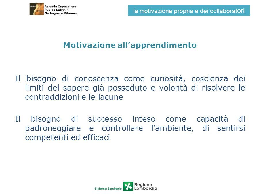 Motivazione all'apprendimento