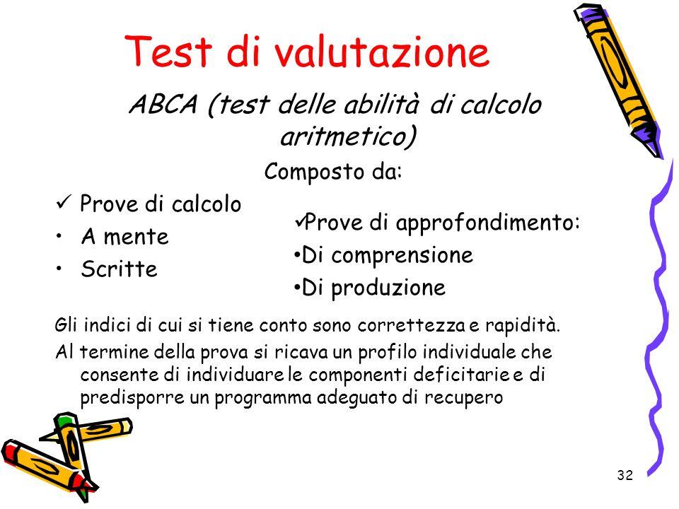ABCA (test delle abilità di calcolo aritmetico)
