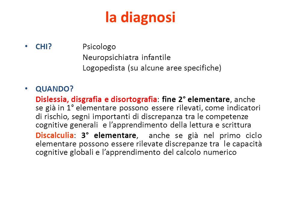 la diagnosi CHI Psicologo Neuropsichiatra infantile