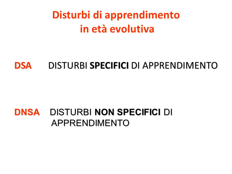 Disturbi di apprendimento in età evolutiva