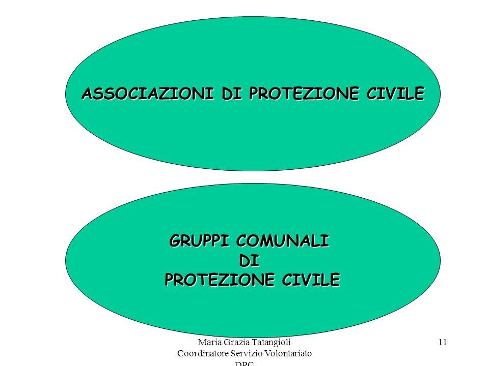 ASSOCIAZIONI DI PROTEZIONE CIVILE