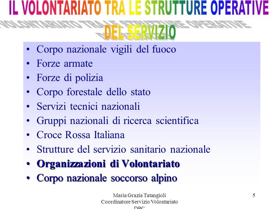 IL VOLONTARIATO TRA LE STRUTTURE OPERATIVE DEL SERVIZIO