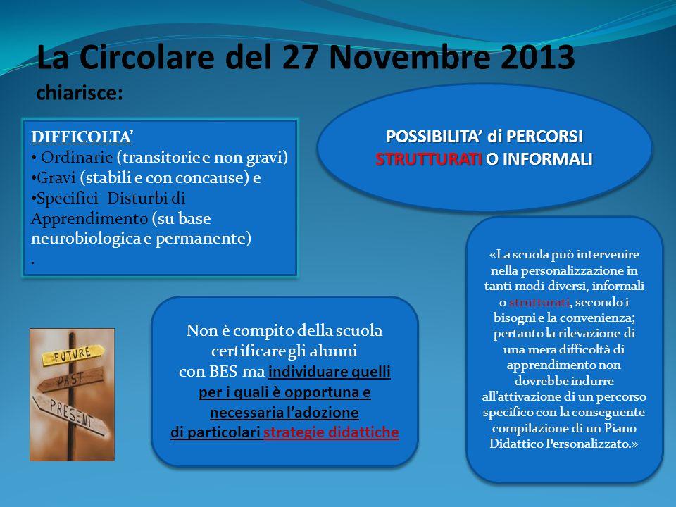 La Circolare del 27 Novembre 2013