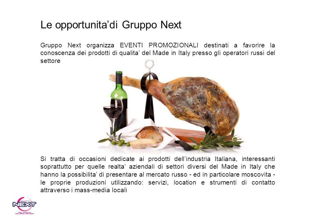 Le opportunita'di Gruppo Next