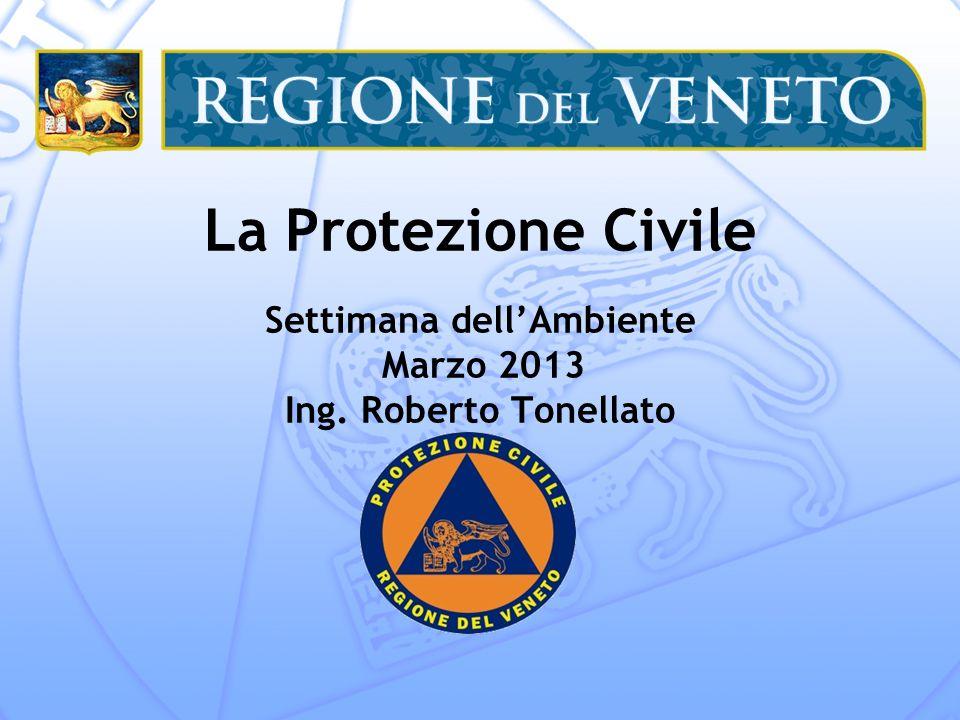 La Protezione Civile Settimana dell'Ambiente Marzo 2013 Ing