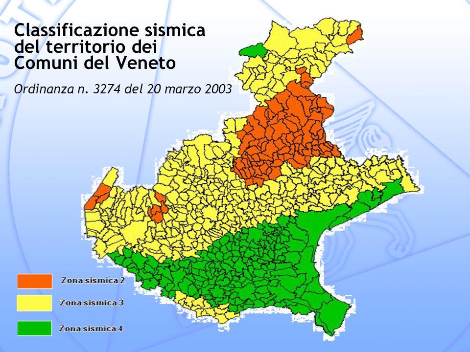 Classificazione sismica del territorio dei Comuni del Veneto