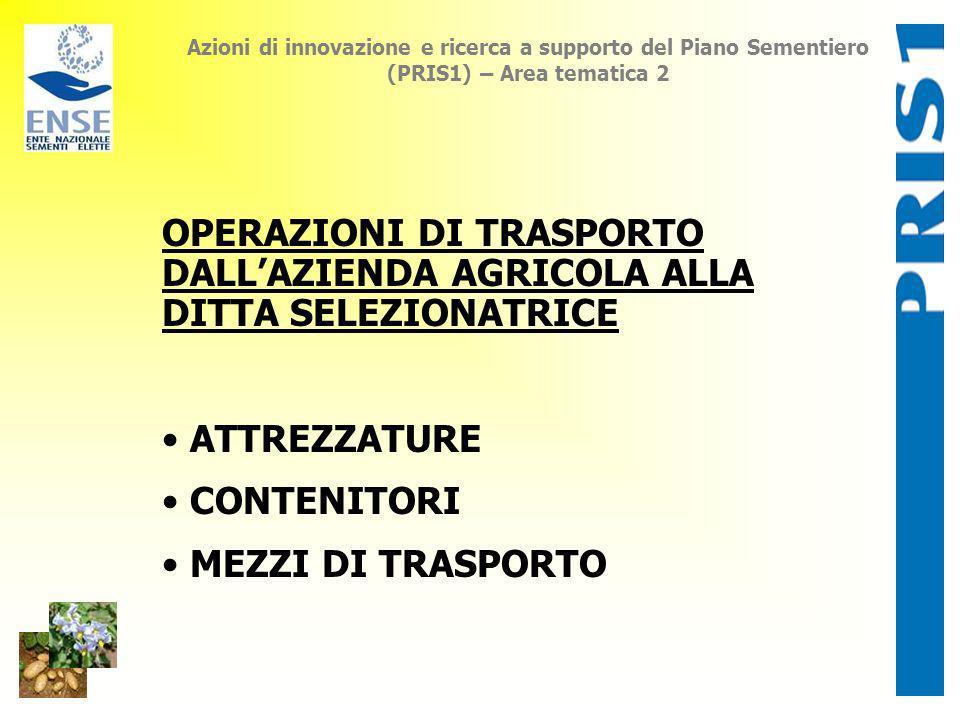 Azioni di innovazione e ricerca a supporto del Piano Sementiero (PRIS1) – Area tematica 2