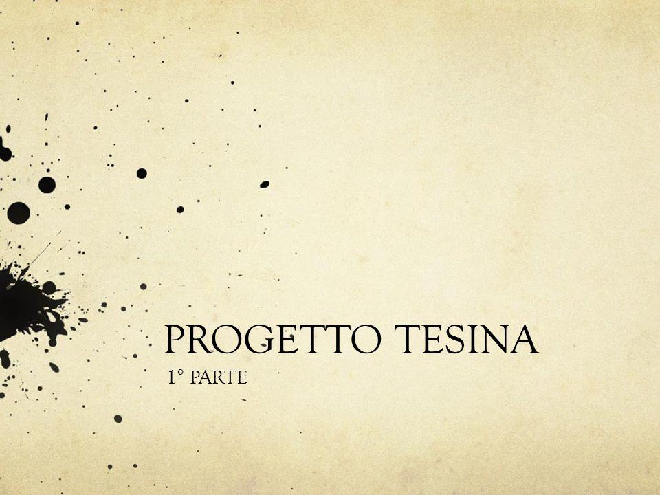 PROGETTO TESINA 1° PARTE